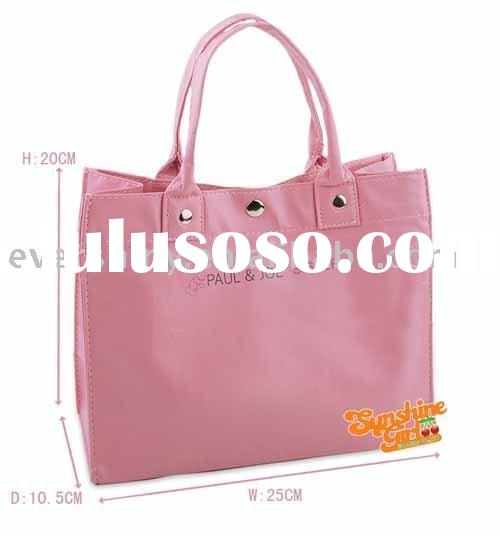 2011 summer pink cotton canvas tote bag