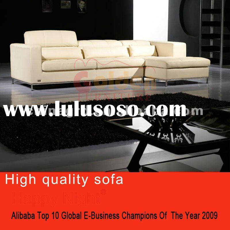 2012Golden quality leather sofa