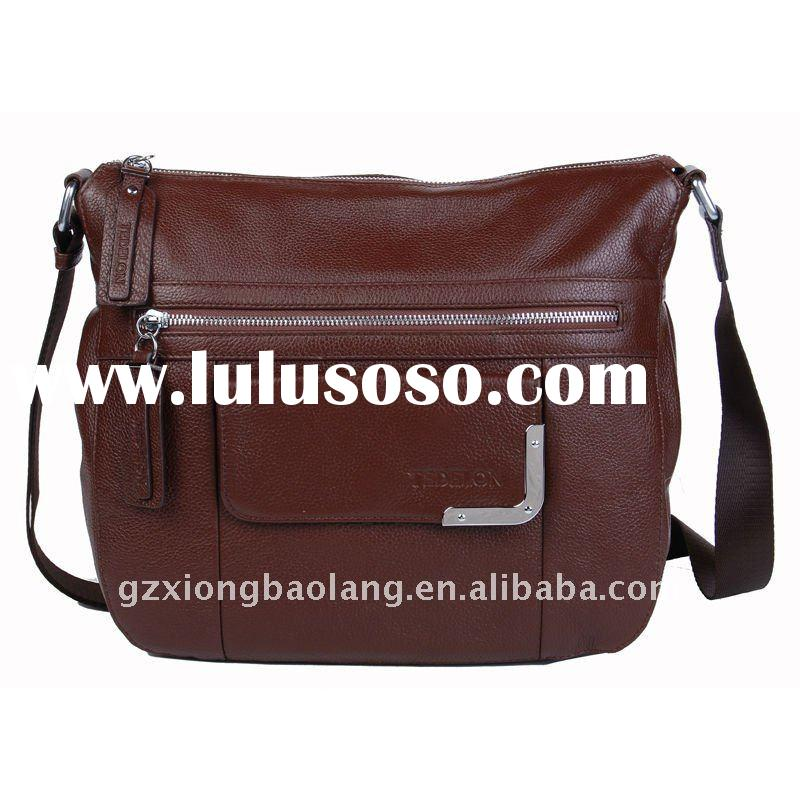 2012 Fashion Brown Leather Messenger Shoulder Bag Purse Briefcase Tote Bag