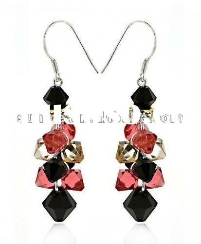 2012 jewelry wholesale 925 silver crystal earrings women earrings