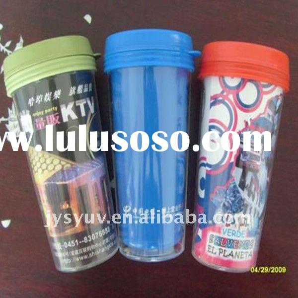 450ml promotional double wall plastic tumbler
