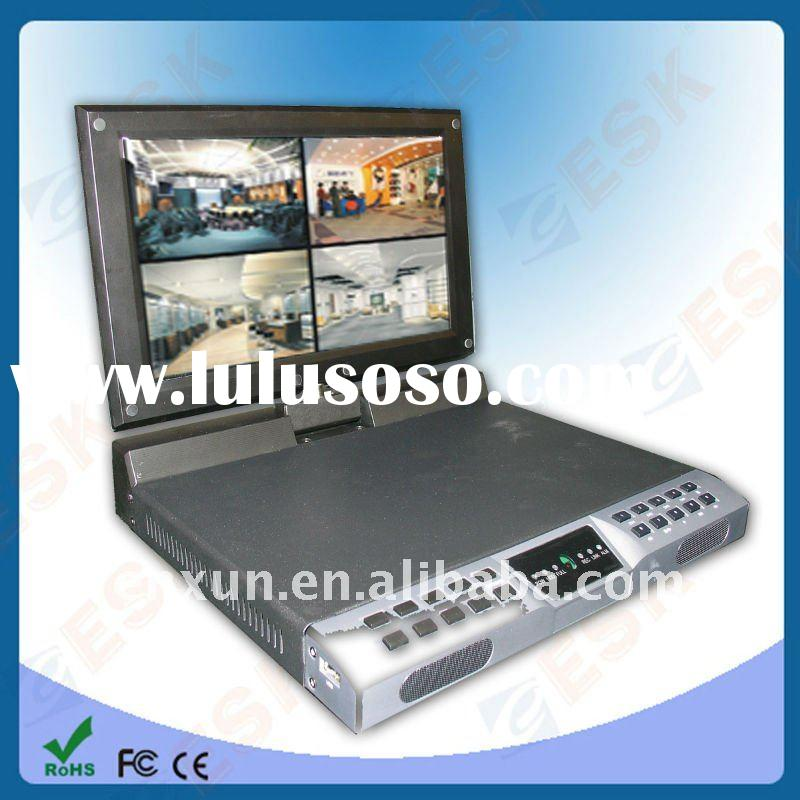 4ch network dvr with monitor Screen swing 90-degree,support 3G mobile surveillance(EN-1604HC)