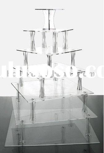 7 Tier Spiral Clear Acrylic Cupcake Stand