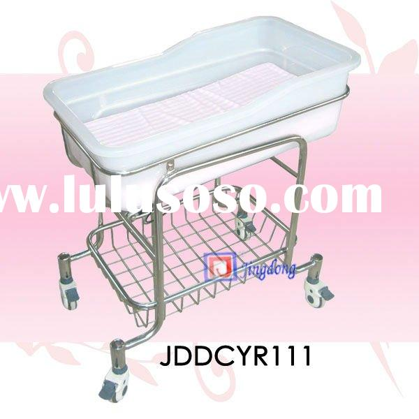 ABS Plastic Adjustable Hospital Movable Baby Crib