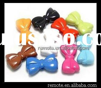 Acrylic Bow Transparent Beads Finding Accessory PL074