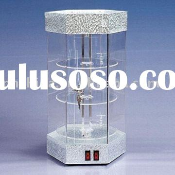 Acrylic Display Stand with Rotating/Swivel System and LED Light