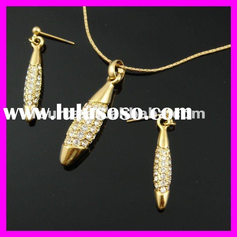 African traditional fashion 18k gold jewelry set 1120101