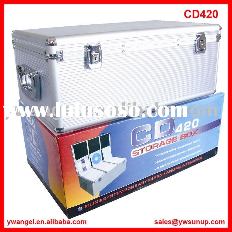 Aluminum CD Box,CD Carrier,CD holder,CD Storage