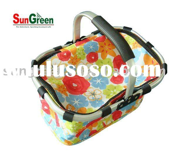 Aluminum folding Basket with cover