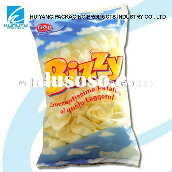 BOPP plastic snack bags with clear window manufacturer