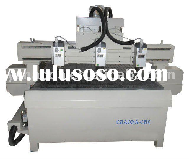 CHAODA JCW1325-3H CNC wood carving machine with 3 Air cooling spindles