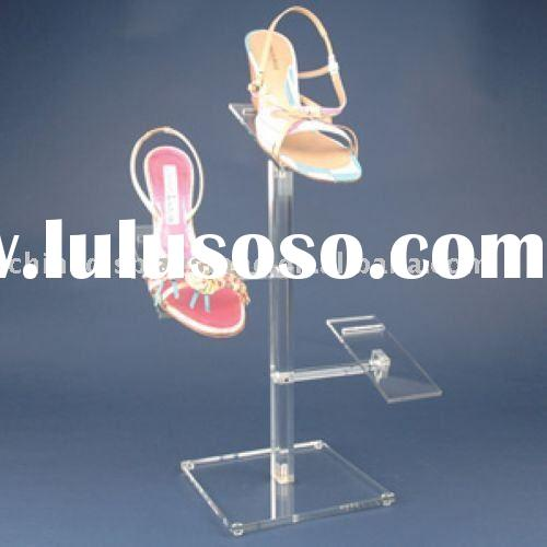 Clear Acrylic Ladies Shoe Display Stand