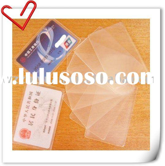 Clear PVC Card Holder for Credit Card Bank, Bank Card and Driver's License