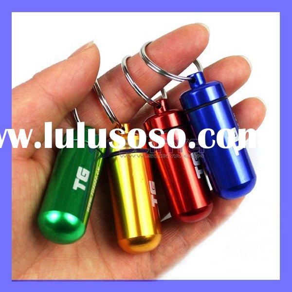 Cute Outdoor Gadgets Mini Pill Box Bottle Keychain