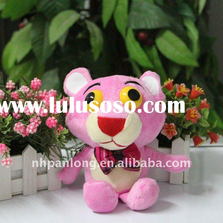 Cute big eyes plush animals pink plush teddy bear cheap