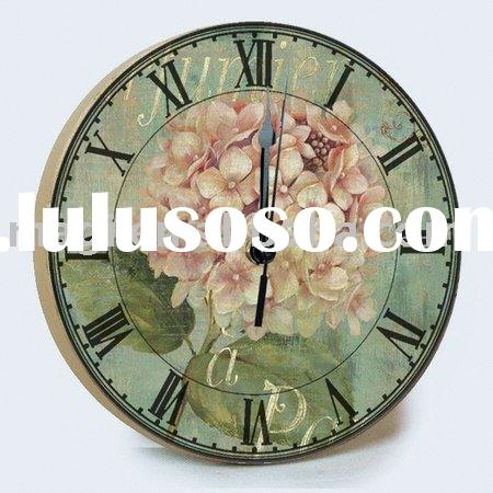 Dia10cm Spring Wooden Fashion Wall Clock