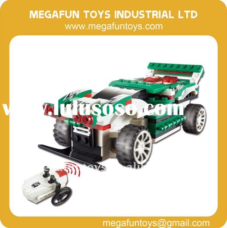 Electric Car for Kids with Remote Control, 125pcs, Building Block MF001727