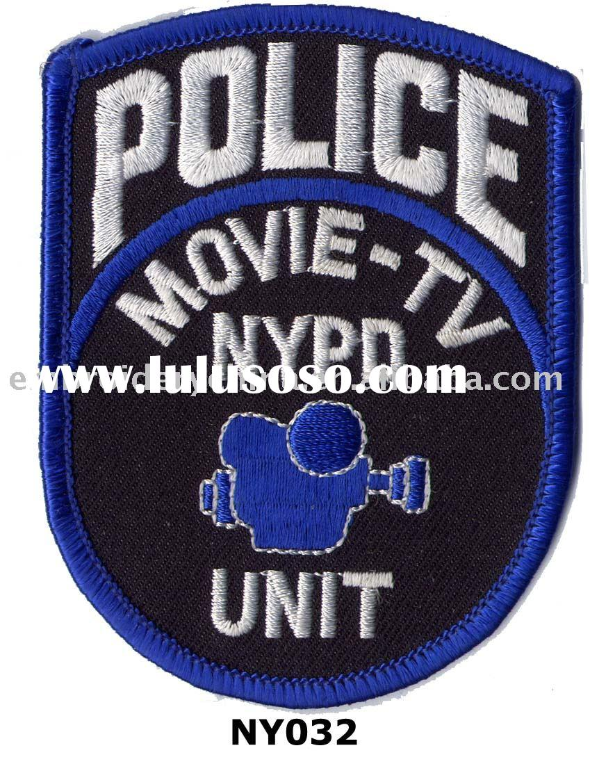 Embroidery NYPD emblem for police uniform