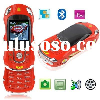 FF Red, Sports Car Style, Bluetooth FM function Slide Design Mobile Phone, Dual sim card Dual standb