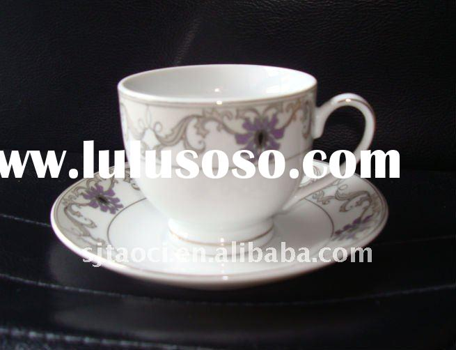 Fine Half porcelain coffee cup and saucer with good shining