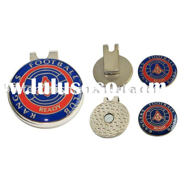 Hat clips metal clips with sport golf ball marker