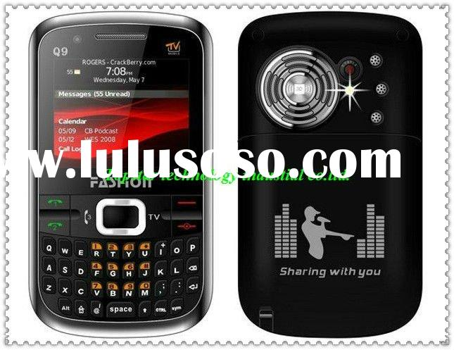 Hot !!!! Q9 mobile phone with 3 sim card 3 standby tv torch light colors superlarge loudspeaker