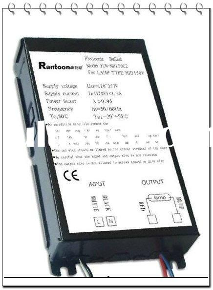 Hot Sale!!! 100V-270V wide voltage 150W MH Electronic Ballast, metal halide r7s recessed metal halid