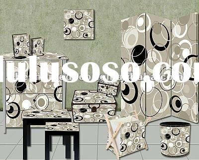Hot new products for 2012, modern decor,abstract design canvas and wood home decoration