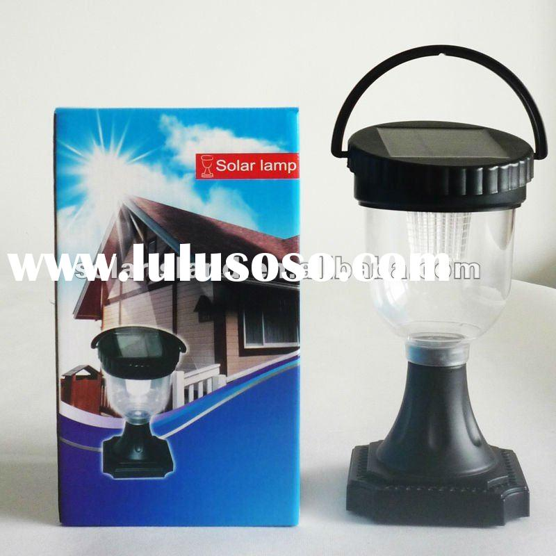 Indoor & outdoor 6-LED High Brightness solar table lamp