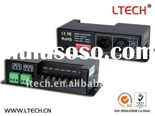 LED DMX controller RGBW LED driver with 4 channel