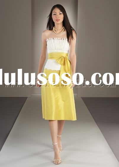 LY-7542 yellow prom evening dresses gown dress fashion designer evening dress in various colors tuni