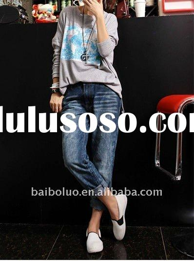 Ladies fashion baggy jeans pants