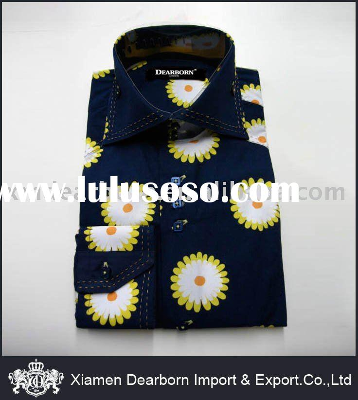 Men's Flower Dress Shirt