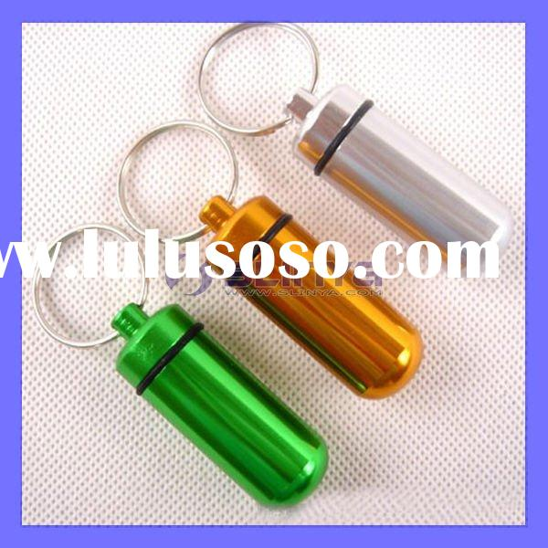 Mini Aluminum Pill Box Bottle Novelty Keychain Outdoor Gadgets