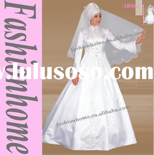 Muslim wedding gown, Araic bridal dress, Arabic wedding abaya AR002