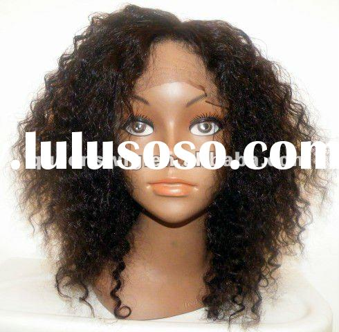 Natural 100% Indian human hair water wave full lace wigs