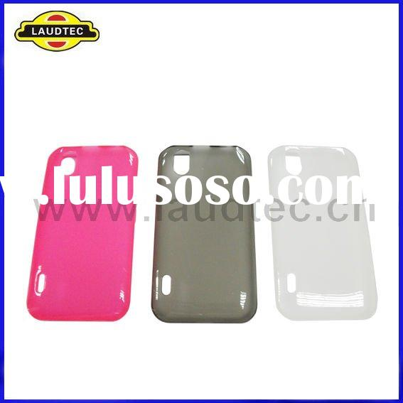 New arrival Colorful Soft Skin TPU gel case back cover for LG P970 Optimus Black