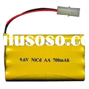 NiCd AA 700mAh 9.6V battery pack for Remote control toy