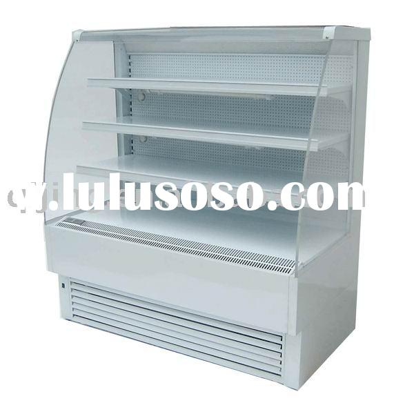 Oblique Open range refrigerator (Surface by steel plate powder painting)