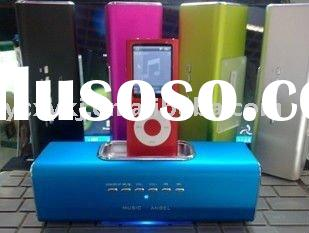 Portable Speaker for ipod/iphone3g/3gs/iphone4,speaker for iphone dock,with usb and micro SD card sl