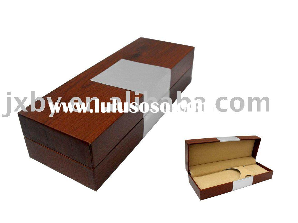 Printed logo PU leather pen box,leather pen gift box