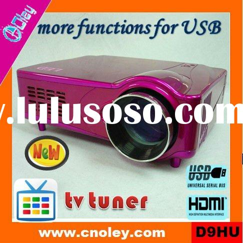 Promotion! hd home theater projector 1080p HDMI built in tv tuner