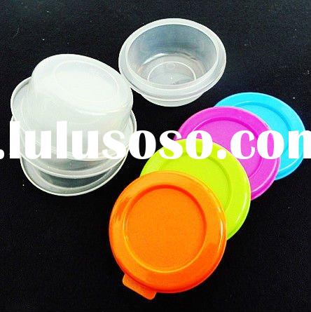Round Colorful Plastic Snack Bowl with Lid