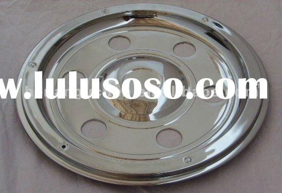 STAINLESS STEEL TRAILER WHEEL COVERS 17.5""