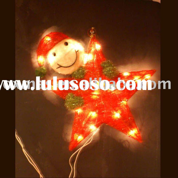 Sisal catoon star snowman christmas decoration / ornament