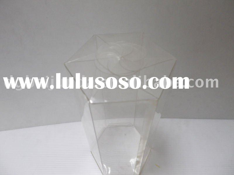 Six Sides Clear plastic PET PVC folding box