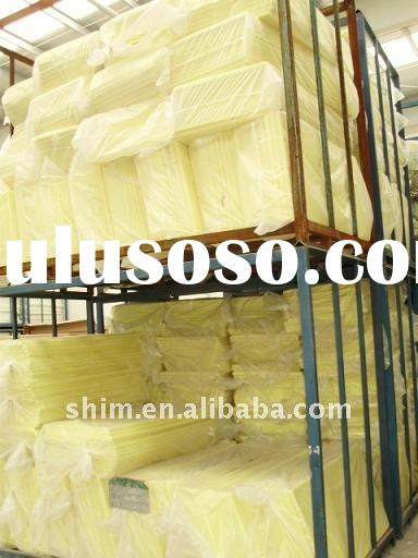 Sound absorbing glass wool panel