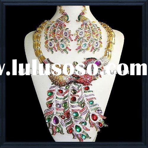 Stunning & african fashion jewelry sets wedding jewelry sets 18 carat gold jewelry sets