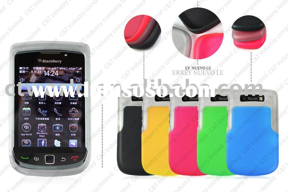 TPU+PC case for Blackberry 9800 torch mobile phone case