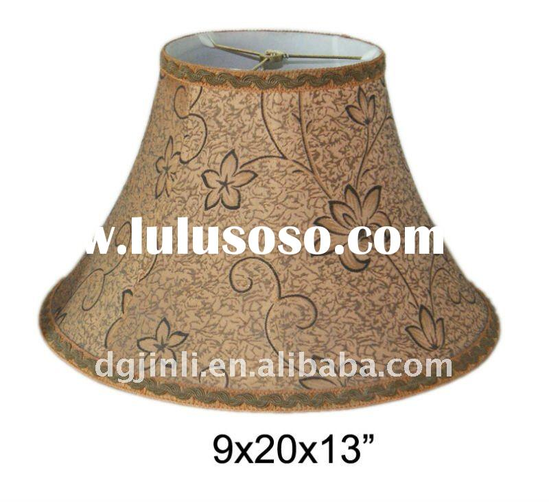 Traditional fabric large lamp shades